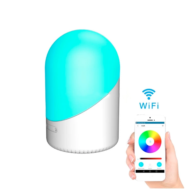 WiFi smart nattljus bordslampa