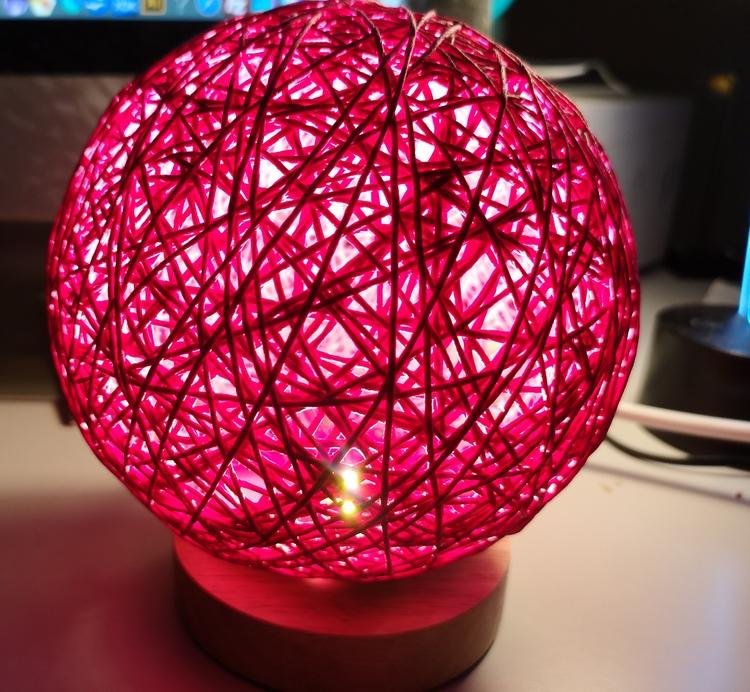 3D LED nattlampa