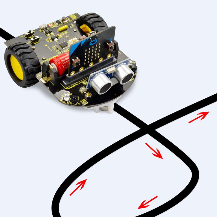 Micro: Bit mini smart Robot car kit för skolbarn
