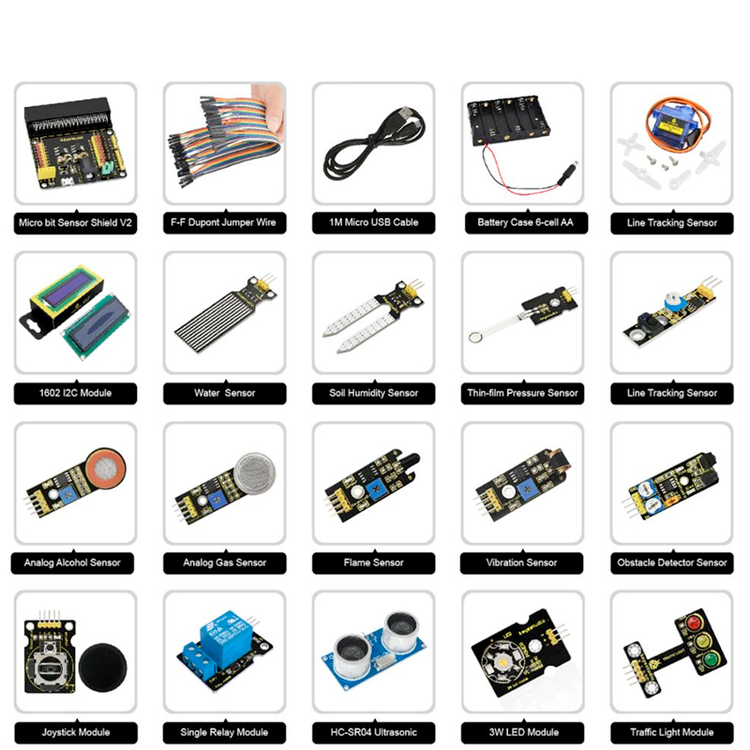Micro:bit 37 in 1 sensors start packet without micro:bit