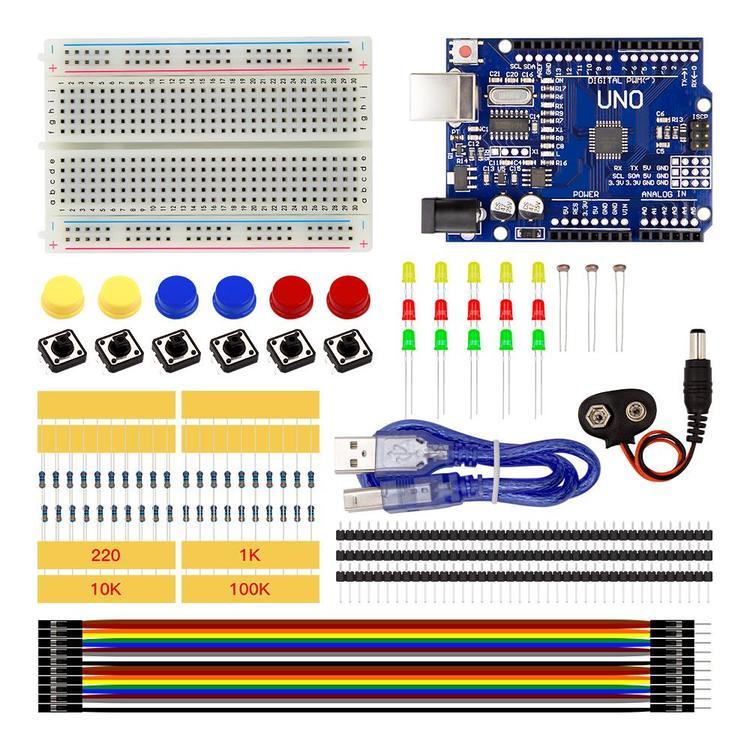 Nybörjare startpaket, kompatibel med Arduino