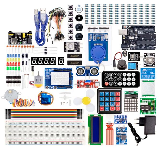 Stort kit med handledning, kompatibel med Arduino