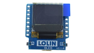 OLED Shield for Lolin D1 mini  with 2x I2C Button