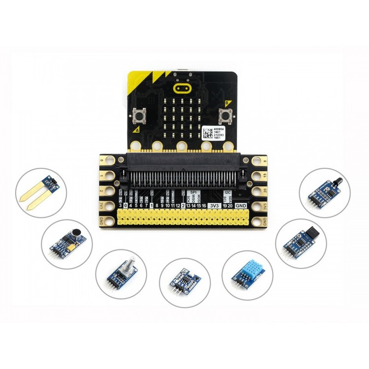 BBC micro:bit sense pack, with edge breakout, several sensors