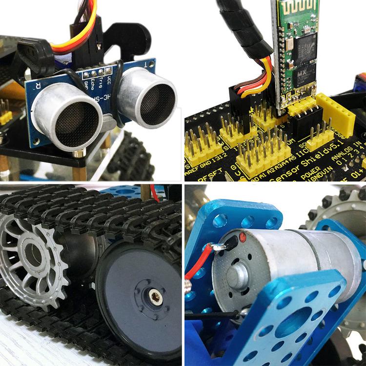 Keyestudio Mini Tank Robot, compatible with Arduino