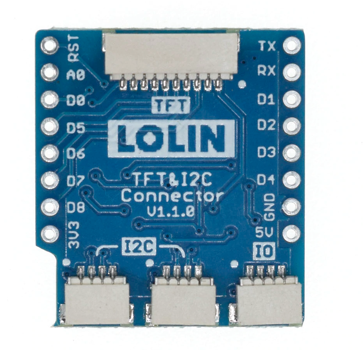 TFT I2C Connector Shield V1.1.0 for LOLIN (WEMOS) D1 mini
