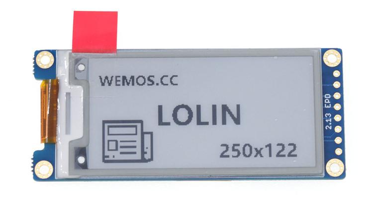 ePaper 2.13'' Shield V1.0.0 for LOLIN D1 mini