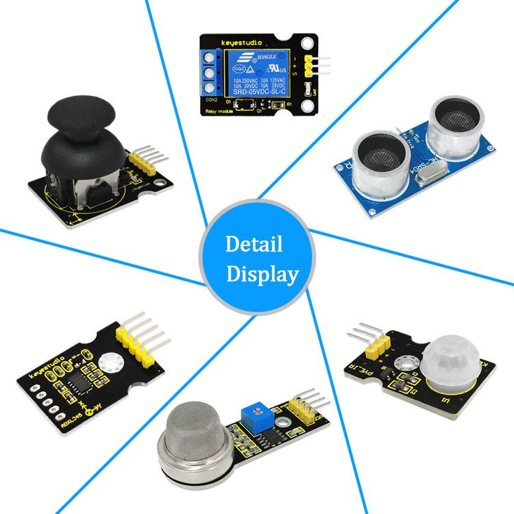 Keyestudio starter kit avancerad, kompatibel med Arduino