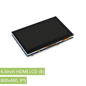 4.3inch HDMI LCD (B), 800x480, IPS, supports various systems, capacitive touch