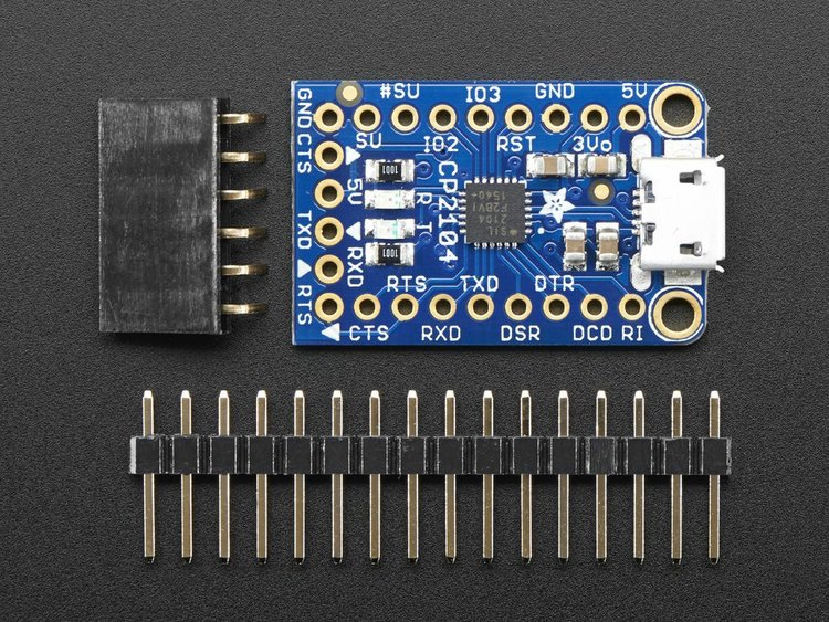 Adafruit CP2104 Friend - USB to Serial Converter