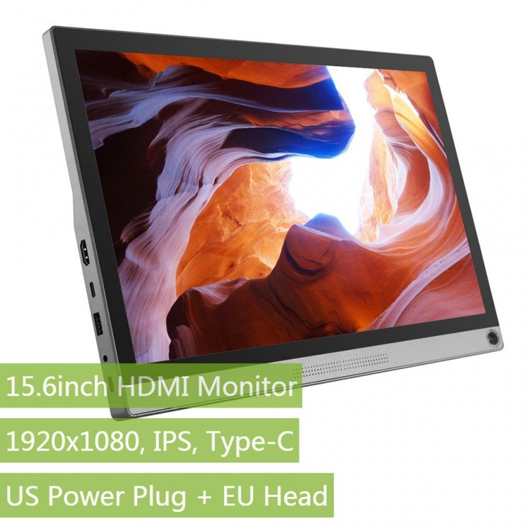 15.6inch Universal Portable Touch Monitor (for EU), 1920×1080, IPS, Type-C
