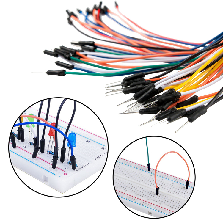 3 Packs M/M Breadboard Jumper Wire Kit for breadboards, compatible with Arduino