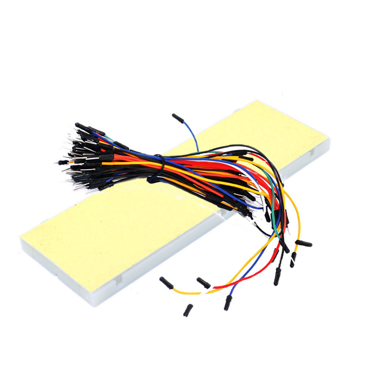 830 hole high quality breadboard +65 colorful bread line kit