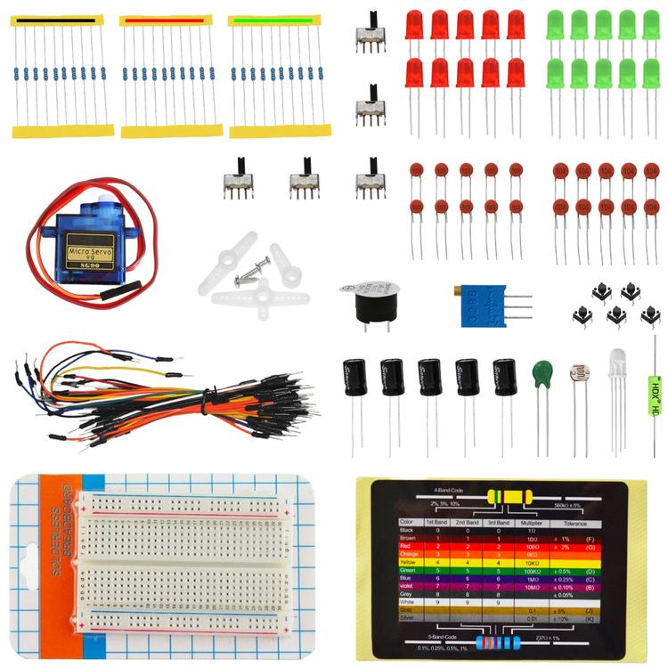 Elektroniska komponentpaket , kompatibel med Arduino