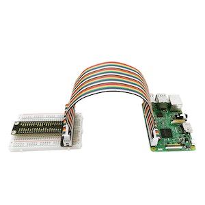 Raspberry Pi V1+ 40P Colorful Ribbon Cable+ 400-hole Breadboard