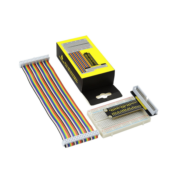 Raspberry Pi V1+ 40P Colorful Ribbon Cable+ 400-hole Breadboard