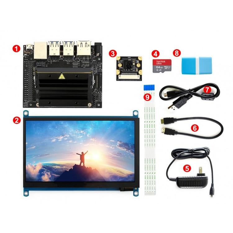 Jetson Nano Developer Kit 7inch Touch Display och Camera