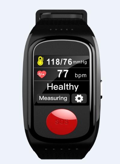 GPS Smartklocka för äldre med SOS med en knapptryckning