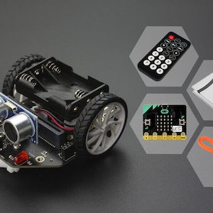 Micro:bit Maqueen robot (with micro:bit/IR Remote Controller)