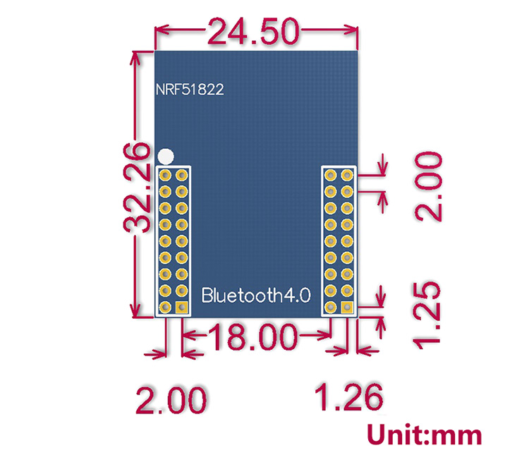 Bluetooth 4.0 NRF51822 Core Board