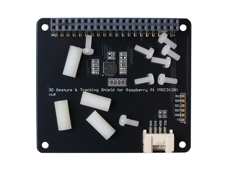 3D gesture recognition and motion tracking Shield for Raspberry Pi