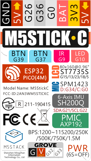 M5StickC ESP32-PICO Mini IoT Development Board
