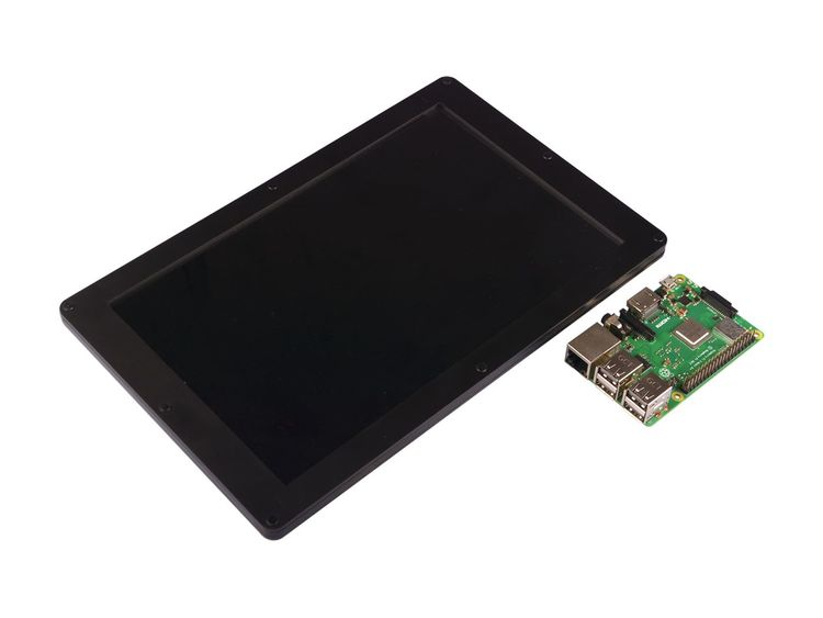 Raspberry Pi 4 Computer Model B 4GB with 10.1 inch 1200x1920 HDMI IPS LCD Display