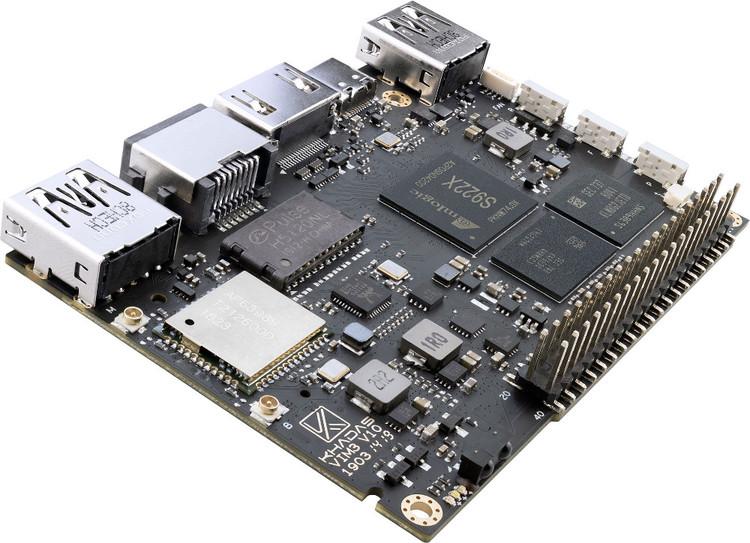 KHADAS VIM3 Amlogic A311D SBC with NPU AI developing board