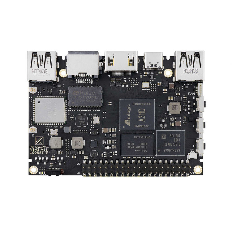 KHADAS VIM3 Amlogic A311D SBC with NPU AI developing board