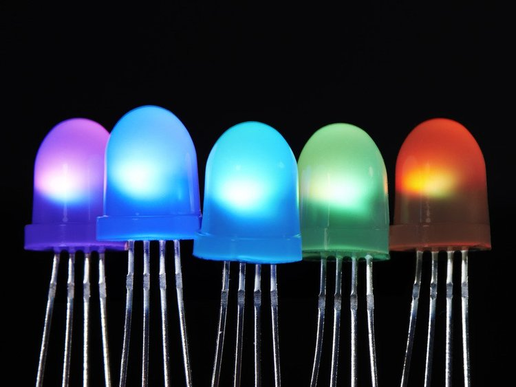 NeoPixel Diffused 8mm Through-Hole LED - 5 Pack