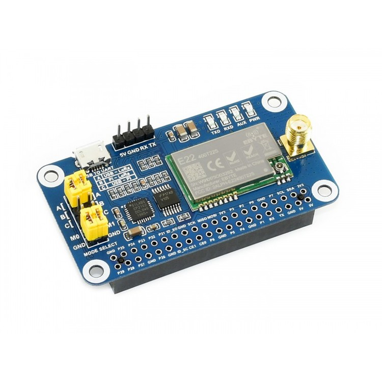 SX1268 LoRa HAT for Raspberry Pi, 433MHz Frequency Band