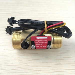BRASS LIQUID FLOW METER WITH TEMPERATURE SENSOR PROBE G3/4 ELECTRIC WATER HEATER SENSOR