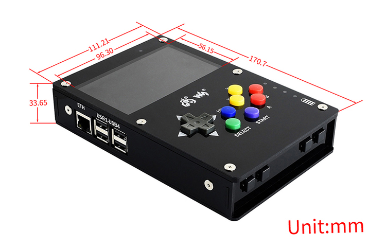 GamePi43, Portable Video Game Console Based on Raspberry Pi
