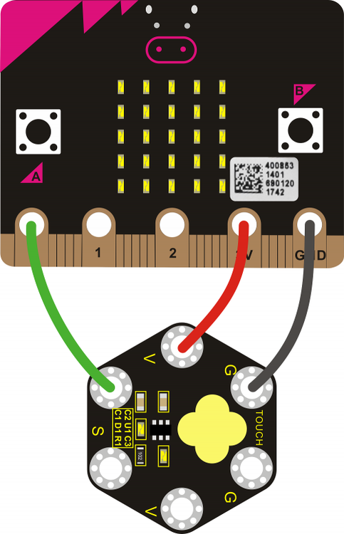 Keyestudio micro:bit Capacitive Touch Module