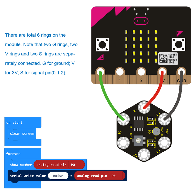 Keyestudio Microphone Sound Module For BBC micro:bit
