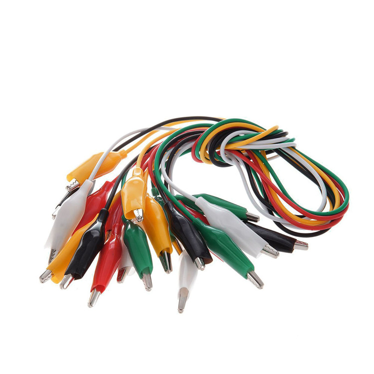 Alligator clip cables 50cm 10st