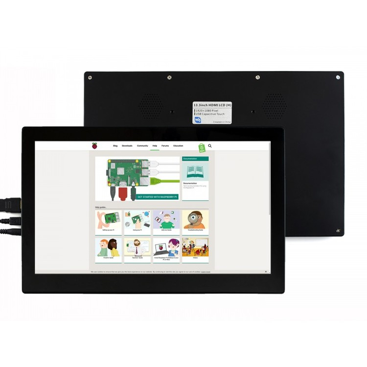 13.3inch HDMI LCD  (H) (with case) V2 (for EU), 1920x1080, IPS