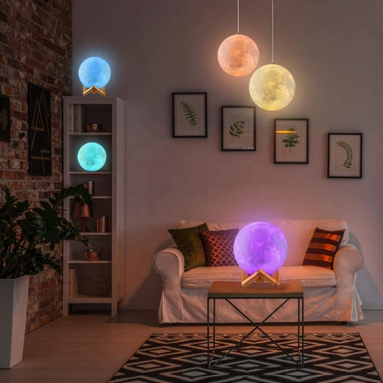 Månlampa (3D Moon LED lamp)