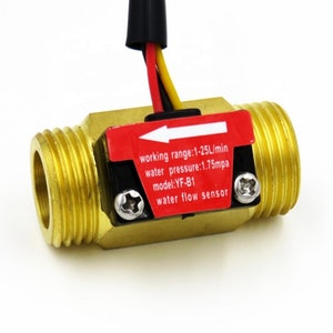 SEA YF-B1 G1/2'' Brass Turbine Flow Meter 1-25L/min Electric Water Heater Copper Flowmeter