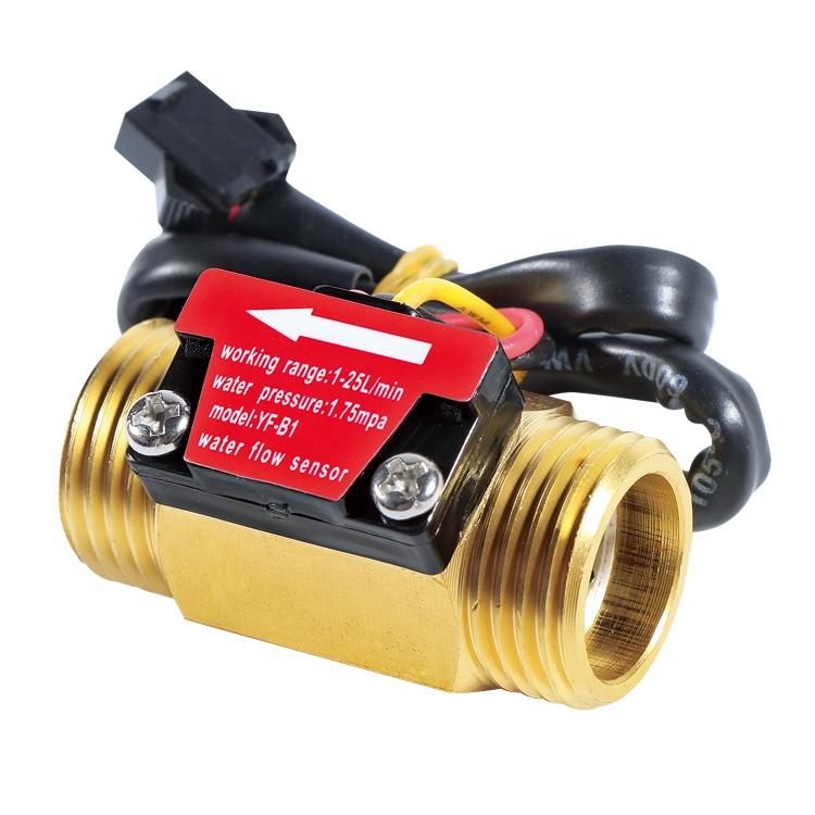 SEA YF-B1 G1/2'' Brass Turbine Flow Meter 1-25L/min Electric Water Heater Copper Flowmeter