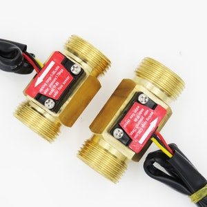 SEA YF-B5 G3/4 Brass water copper flow sensor Turbine meter Magnetic Hall effect sensor