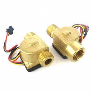 SEA Model No B20 Magnetic Brass Flow Sensor Meter With G1/2 Female To Male Thread Water Flow Direction