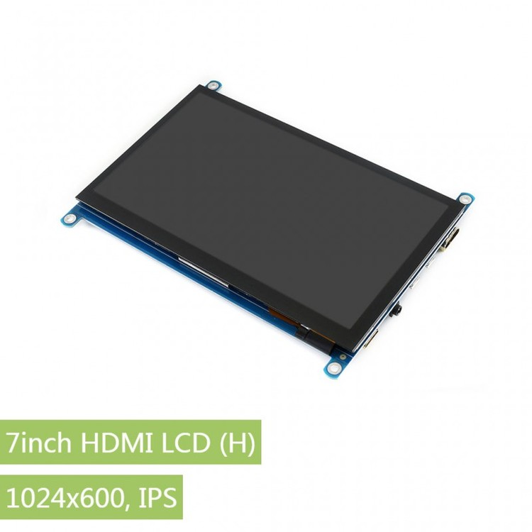 7inch HDMI LCD (H), 1024x600, IPS, supports various systems, capacitive touch