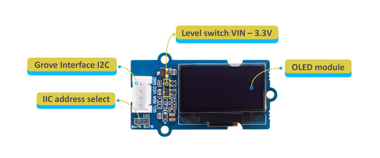 "Grove - OLED Display 0.96"" (SSD1315)"