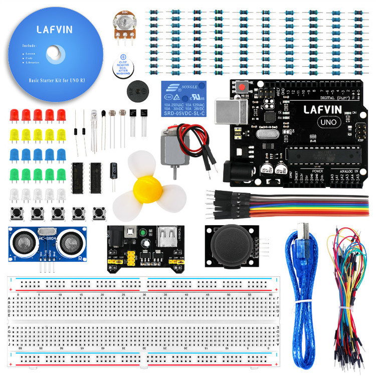 Basic Starter Kit compatible with Arduinos UNO with Tutorial