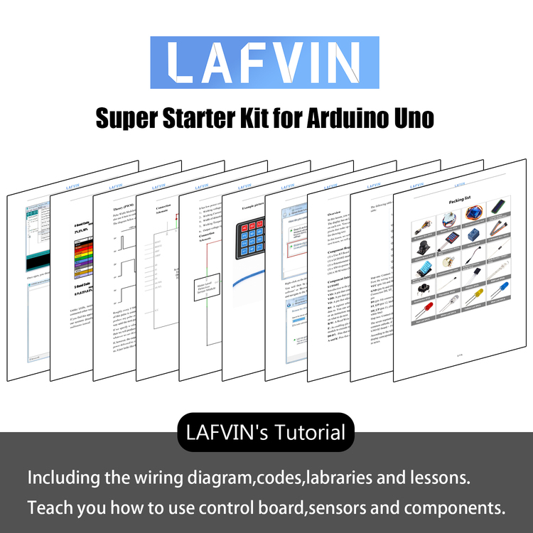 Super Starter Kit compatible with Arduinos UNO R3 with Tutorial
