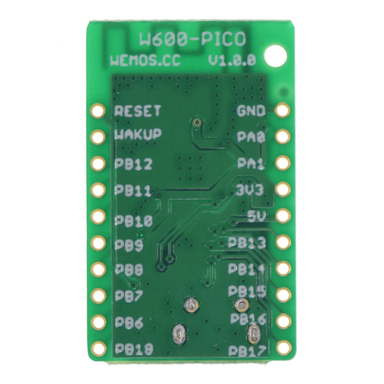 W600-PICO V1.0.0 - wifi board based W600 1MB FLASH MicroPython