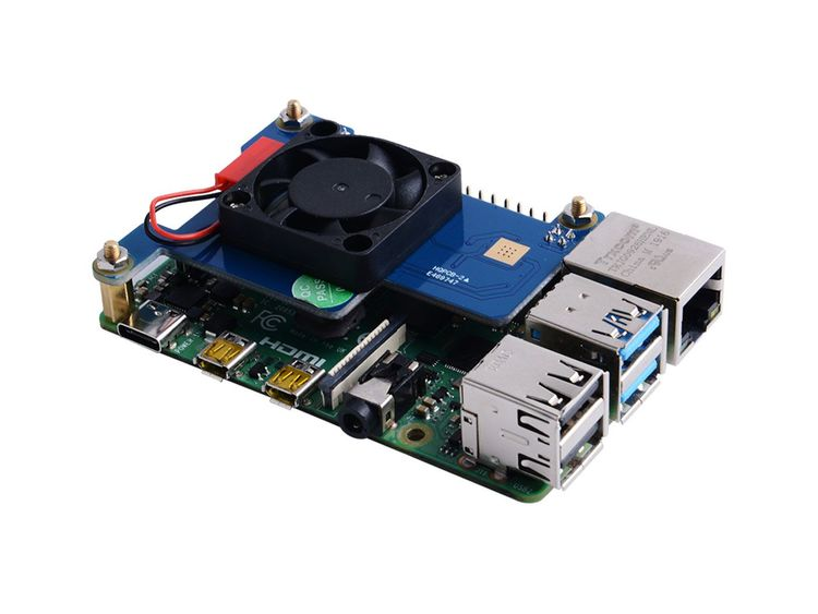 Power-Over-Ethernet (PoE) HAT for Raspberry Pi 4B/3B+