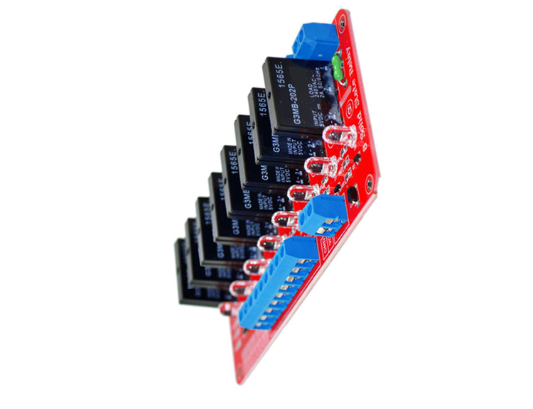 5V 8 Channel SSR Solid State Relay Module Low Level Trigger 2A 240V