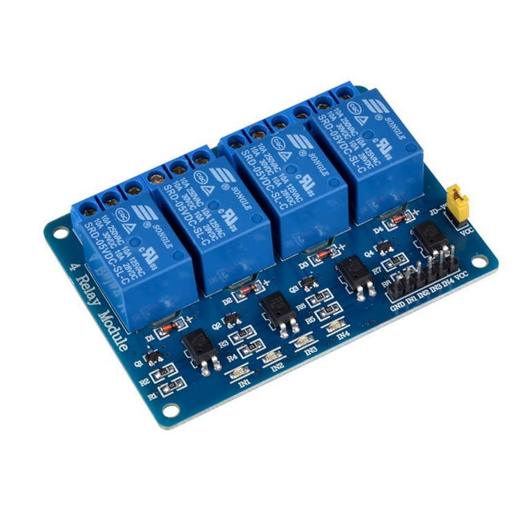 4 Channel Relay Module with light coupling 12V